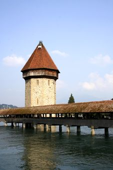Chapel-Bridge In Lucerne Royalty Free Stock Image