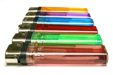 Free Colorful Line Of Lighters Royalty Free Stock Photo - 569215