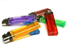 Free Six Colorful Lighters Royalty Free Stock Image - 569216