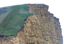 Free Burton Bradstock Ciiffs At West Bay Bridport Sands In Dorset Royalty Free Stock Images - 569769