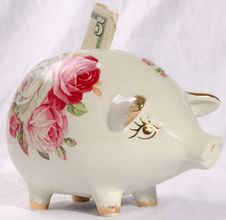 Free A Piggy Bank Royalty Free Stock Photos - 569848