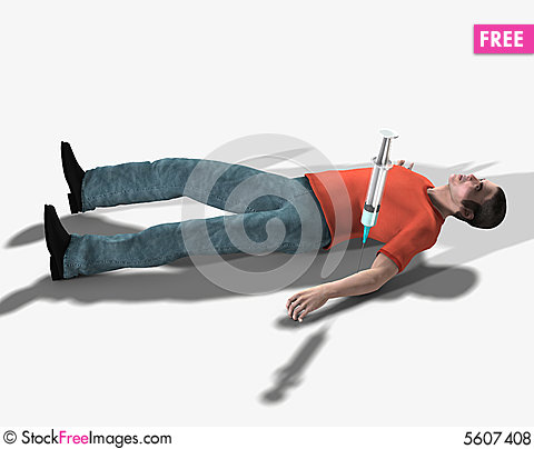Free Drug Addict Dead From An Overdose Royalty Free Stock Photos - 5607408