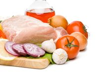 Free Fresh Meat With Vegetables Stock Image - 5600101