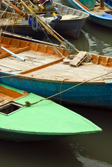 Free Fishing Boats In The Harbor Stock Images - 5600284