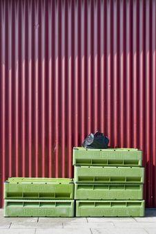Free Green Fish Boxes Royalty Free Stock Photo - 5600385