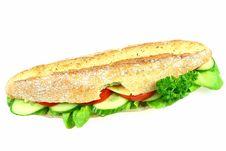 Big Bitten Sandwich Royalty Free Stock Image