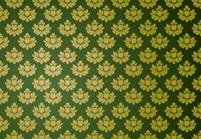 Free Gold And Green Glamour Pattern Royalty Free Stock Photography - 5600507
