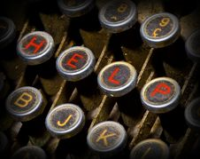Free Help Typewriter Keys Stock Images - 5600754
