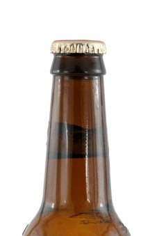 Free Isolated Brown Beer Bottle With Cap Royalty Free Stock Image - 5601146