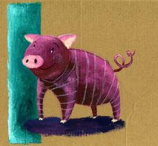 Free Striped Pig Stock Photography - 5601312