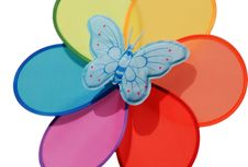 Butterfly Rainbow Toy Royalty Free Stock Image