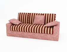 Free 3d.Colour House Sofa Isolated On A White Background Royalty Free Stock Photo - 5602905