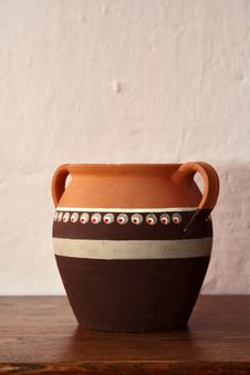 Handmade Pitcher / Pottery Stock Photography