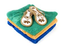 Flip-flop And Towels 2 Royalty Free Stock Image