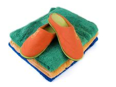Free Slippers And Towels 2 Royalty Free Stock Photography - 5603997