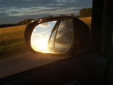 Free Sunset In The Mirror Royalty Free Stock Photo - 5604145