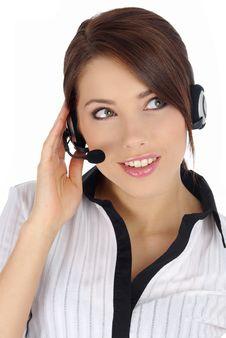 Free Customer Support Girl Stock Photo - 5604270
