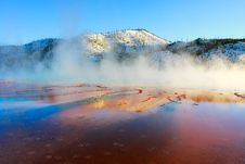 Free Grand Prismatic Spring, Sunset Stock Photography - 5605092