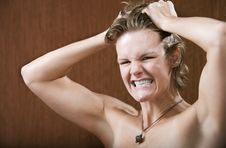 Free Frustrated Woman Royalty Free Stock Photography - 5605247