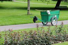Free Wheelbarrow In The Park Royalty Free Stock Photography - 5605267