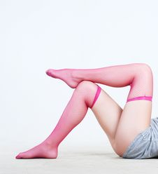 Free Legs Of Woman In Stockings Stock Photos - 5605413