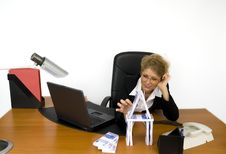 Free Boss At Work. Stock Images - 5605424