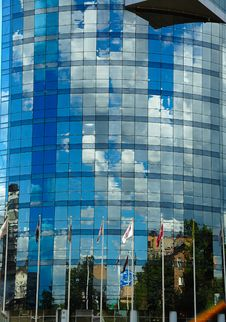 Blue Office Building Stock Photos