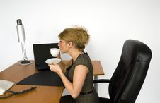 Free Businesswoman In Office. Royalty Free Stock Image - 5605646