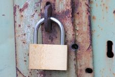Old Locked Door Royalty Free Stock Images