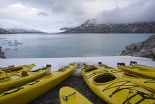 Free Kayaks On The Glacier Royalty Free Stock Photos - 5606158