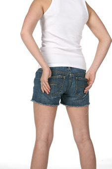 Rear View Of Teen With Hands In Pockets Royalty Free Stock Photos