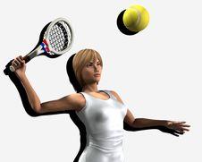 Free Women About To Hit Tennis Ball 6 Stock Photo - 5607180
