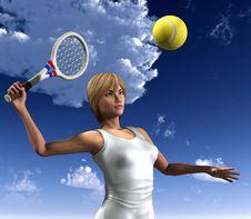 Free Women About To Hit Tennis Ball 8 Stock Photos - 5607183