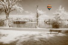 The Infrared Dreamy Scenery Stock Photos