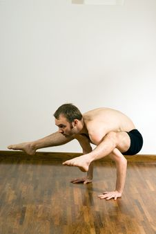 Free Man Performing Yoga - Vertical Stock Photography - 5607612