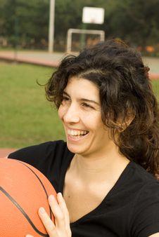 Woman On Basketball Court - Vertica Stock Photos