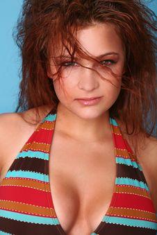 Free Sexy Headshot Of Bikini Model Stock Photography - 5607842