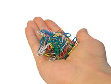 Free Paperclip In Hand Royalty Free Stock Photo - 5608185