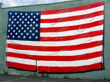 Free Painted American Flag Stock Photo - 5608240