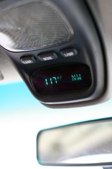 Automobile Thermometer - Hot! Stock Photos
