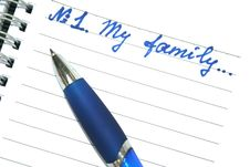 Free Blue Pen And Note Book Stock Images - 5608664