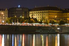 Prague By Night Stock Photo