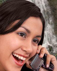 Free Glamorous Girl On Phone Stock Photos - 5609603