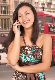 Free Girl On Phone Royalty Free Stock Photos - 5609658