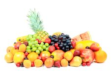 Free Fruits On White. Royalty Free Stock Photo - 5609945