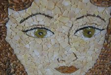 Free Mosaic Portrait Royalty Free Stock Images - 56042959