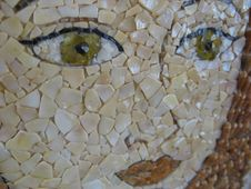 Free Mosaic Portrait Stock Image - 56042991