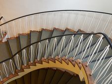 Downside View Of A Spiral Staircase Stock Images
