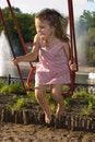 Free Happy Swinging Royalty Free Stock Image - 5611206