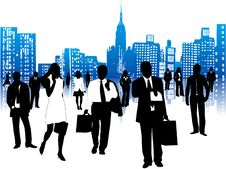 Free Business People And City Stock Image - 5610691